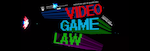 The words Video Game Law at Allard Hall in digitized form